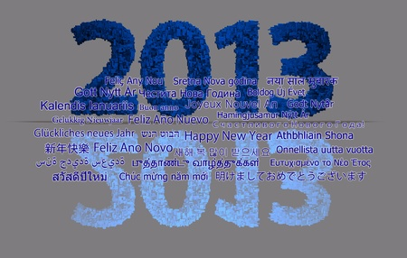 next year: 2013 new year modeled with tridimensional blocks Stock Photo