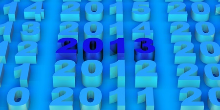 tridimensional: 2013 new year modeled with tridimensional numbers Stock Photo