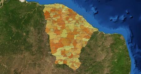 Boundaries of Ceara State - mideast Brazil photo