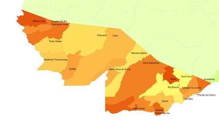 orientate: Boundaries of Acre State - North Brazil