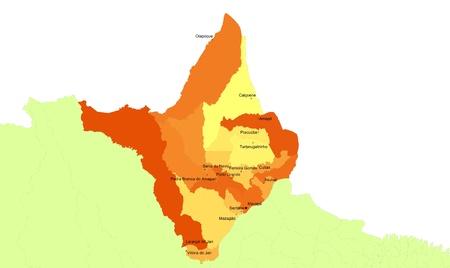 orientate: Boundaries of Amapa State - North Brazil