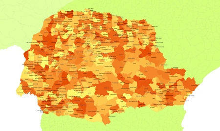 Boundaries of Parana State - south Brazil
