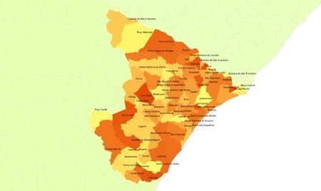Boundaries of Sergipe State - northeast Brazil