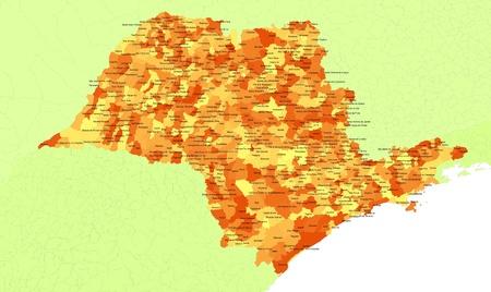 orientate: Boundaries of Sao Paulo State - southest Brazil