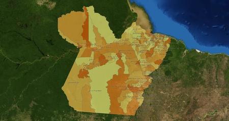 Boundaries of Para State - mideast Brazil Stock Photo - 13467873
