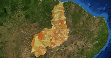 mideast: Boundaries of Piaui State - mideast Brazil