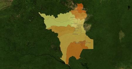 boundaries: Boundaries of Roraima State - mideast Brazil Stock Photo
