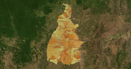 boundaries: Boundaries of Tocantins State - mideast Brazil