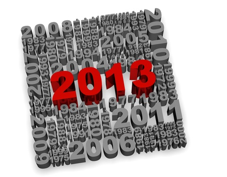 2013 new year modeled with tridimensional numbers Stock Photo - 13560503