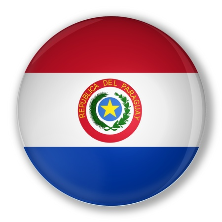Illustration of a badge flag of Paraguay with shadow Stock Illustration - 13914566
