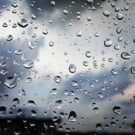 Rain drops Banco de Imagens