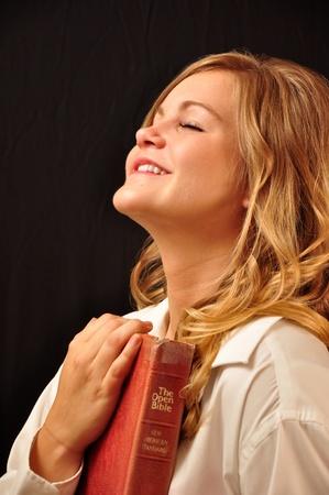 A beautiful woman in a rejoyceful moment.