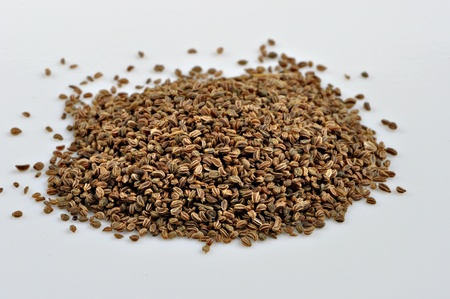 A small pile of celery seeds.
