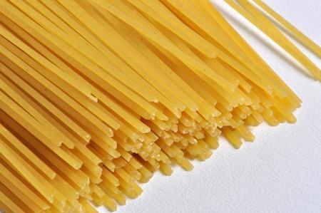 スパゲティ パスタのクローズ アップ ビュー。 写真素材