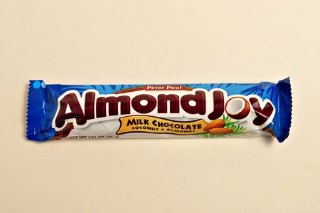 December 22, 2011. A close up shot of a Almond Joy candy bar in a warper. Stock Photo - 11652647