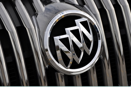 December 23, 2011. Photograph of the Buick car emblem taken on a over cast day.