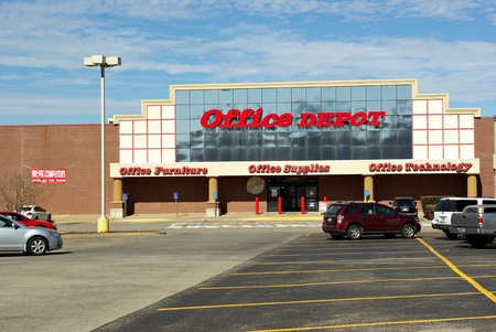 The OfficeDepot store in Athens Texas on January 24 2012. 新聞圖片