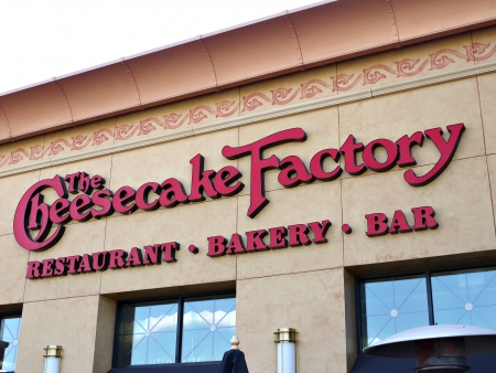 cake factory: A image of a  The Cheese Cake Factory   sign