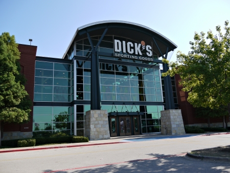 sporting goods: Dicks Sporting Goods Store in Arlington Texas.