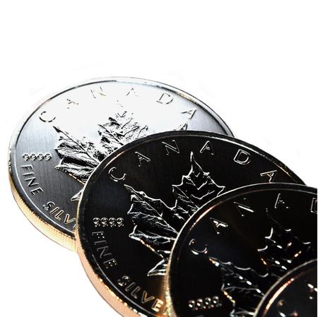 intrinsic: Silver Bullion Coins, isolated
