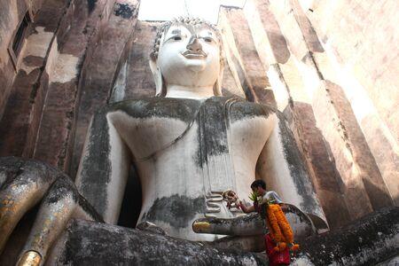 Wat Si Chum-Buddhist temple. Thailand, Sukhothai city