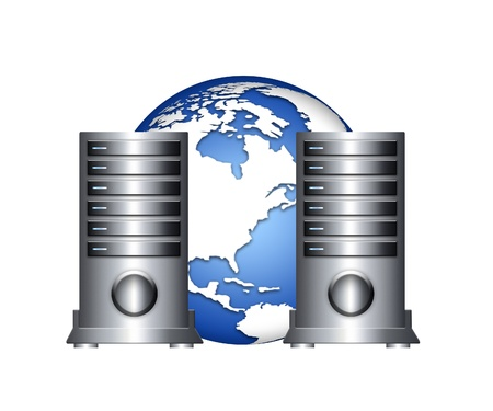 global servers infrastructure Stock Photo