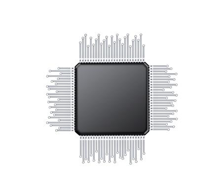 microcontroller , computer electric component Banco de Imagens