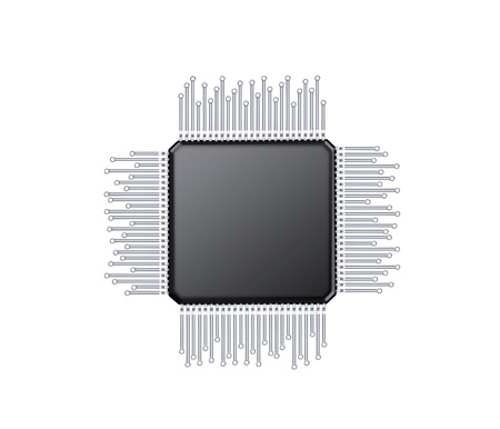 microcontroller, computer elektrische component Stockfoto