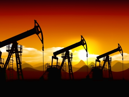 Ölfeld Standard-Bild