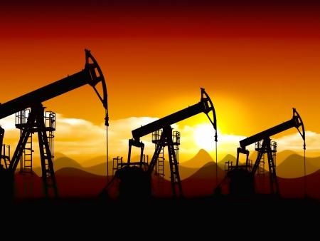 pozo petrolero: aceite de campo Foto de archivo