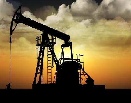 oil  rig: pozzo petrolifero pompa