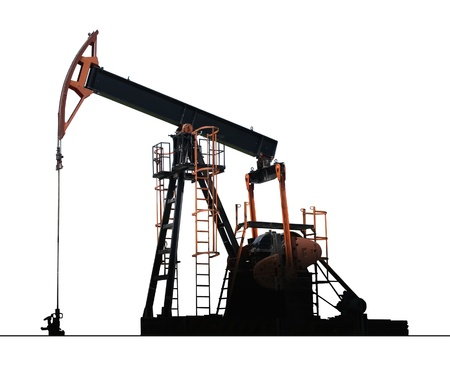 isolated oil well pump Banque d'images