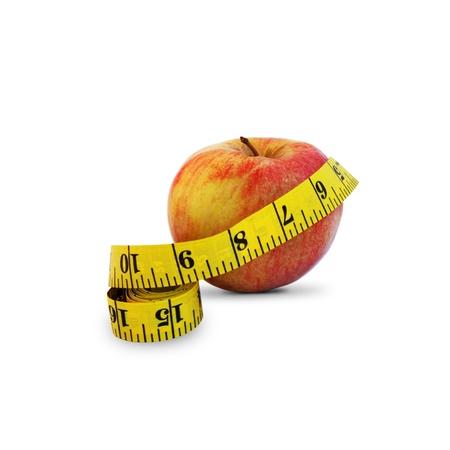 measurement tape: Apple and measurement tape