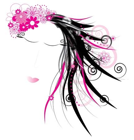 asiatic: Asiatic woman  vector illustration Illustration