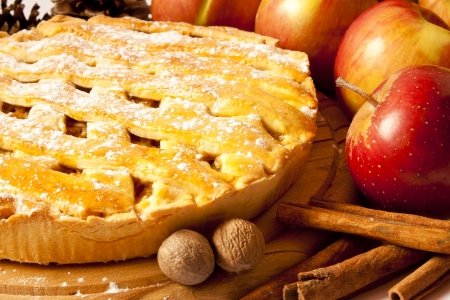 apple and cinnamon: Apple Pie Stock Photo