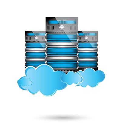 network server:  Servers datacenter,cloud computing concept Illustration