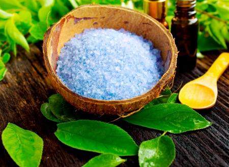 bath salt: Spa salt  Stock Photo
