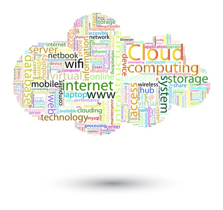 computation: Cloud computing concept Illustration