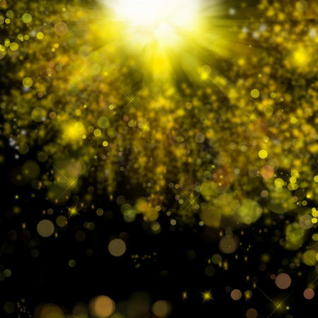 Christmas golden holiday abstract background with bubbles and sparkle photo