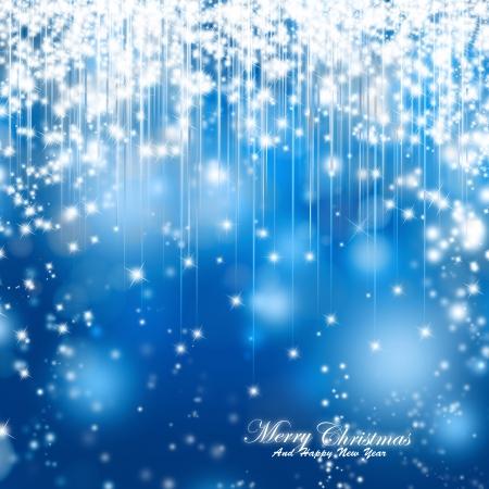 Christmas sparkle background, blue magic shiny Christmas card Imagens