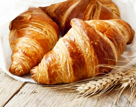 traditionally french: Fresh Croissants, Delicious French Breakfast