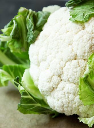 head of cauliflower: Fresh Cauliflower Closeup, Healthy Vegetable Stock Photo