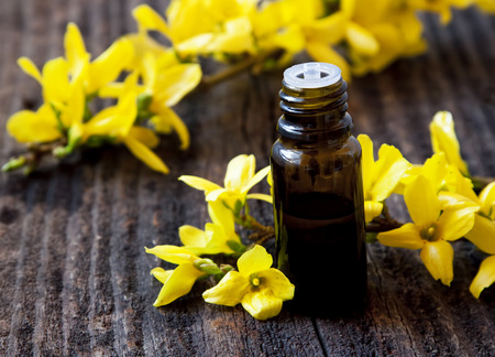 Yellow Flowers Essential Oil Bottle.Spa Flower Essence