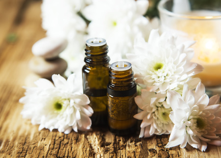 Flowers Aromatherapy Essential Oils with White Flowers