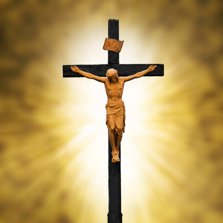 crucified: Jesus Crucified on the Cross.Crucifixion Christianity Symbol