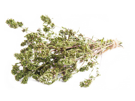culinaire: Thym culinaire herbes aromatiques Bunch isol�