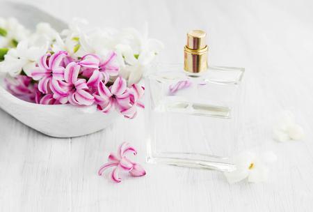White and pink hyacinth flowers with perfume bottlespring flowers stock photo white and pink hyacinth flowers with perfume bottlespring flowers perfume mightylinksfo