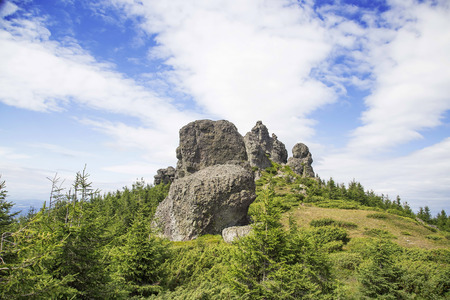 rock formation: Rock formation in Carpathians mountains, Romania