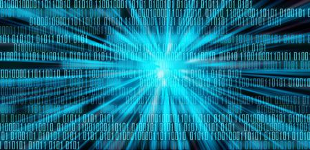 Digital data binary code technology matrix background, data flood conectivity futuristic binary code programming in cyber space, data technology concept Standard-Bild - 118917196