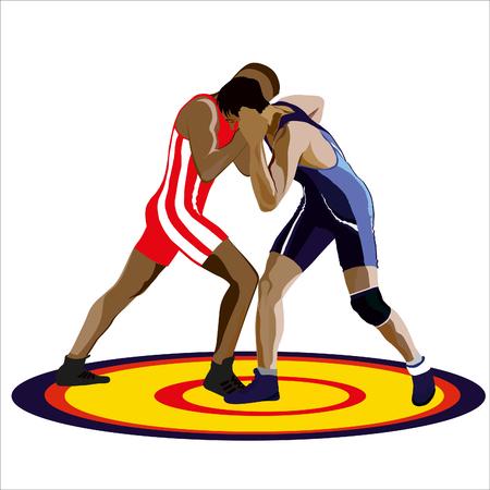 Illustratie Greco -rimskoy vechten Vector Illustratie